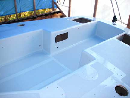 Greyhawk refit deck paint and non skid for Boat non slip deck paint