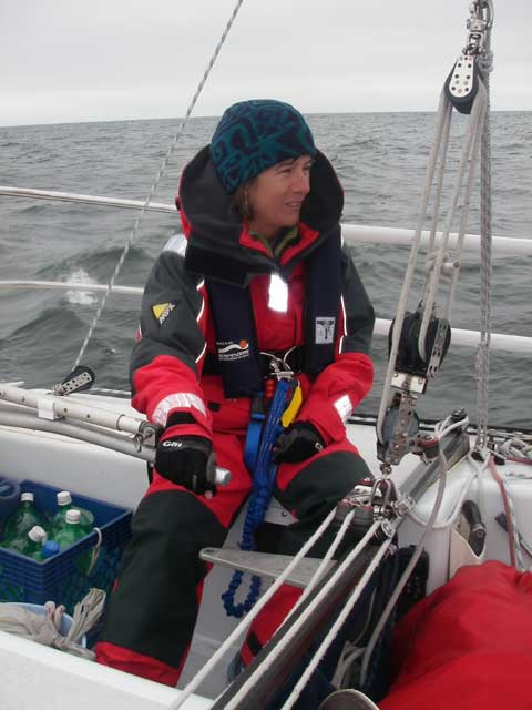 Wendy at the helm